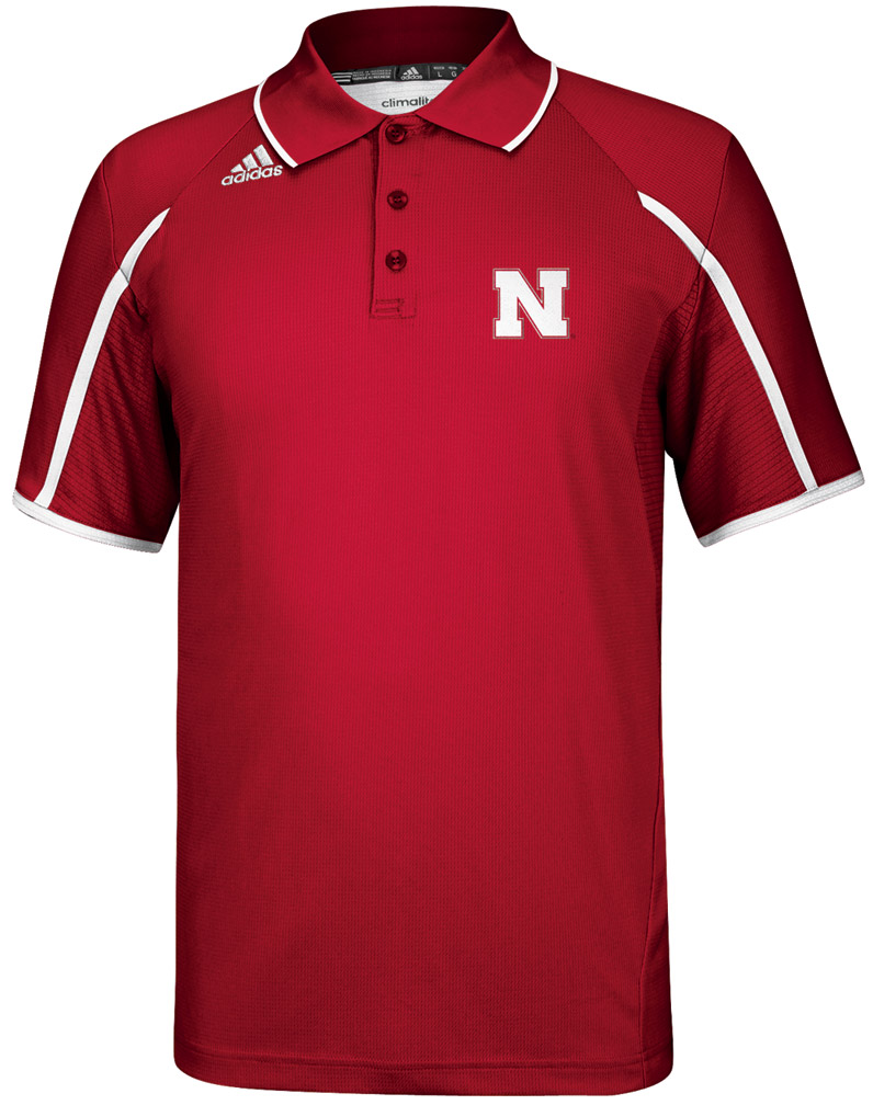 2013 Official Adidas Sideline Coaches Polo In Red Nebraska Cornhuskers, Nebraska Mens, Huskers Mens, Nebraska  Mens Polo's, Huskers  Mens Polo's, Nebraska Polo's, Huskers Polo's, Nebraska Golf Items, Huskers Golf Items, Nebraska 2013 Official Adidas Sideline Coaches Polo In Red, Huskers 2013 Official Adidas Sideline Coaches Polo In Red