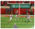 Autographed Kenny Bell Action Pic Nebraska Cornhuskers, 1970s Stadium Picture