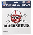 Blackshirts 8x8 Static Cling Nebraska Cornhuskers, Nebraska Vehicle, Huskers Vehicle, Nebraska Stickers Decals & Magnets, Huskers Stickers Decals & Magnets, Nebraska Blackshirts, Huskers Blackshirts, Nebraska Blackshirts Mutli PK Decals, Huskers Blackshirts Mutli PK Decals
