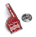 Foam Finger Lapel Pin Nebraska Cornhuskers, Nebraska  Ties & Pins, Huskers  Ties & Pins, Nebraska Foam Finger Lapel Pin, Huskers Foam Finger Lapel Pin