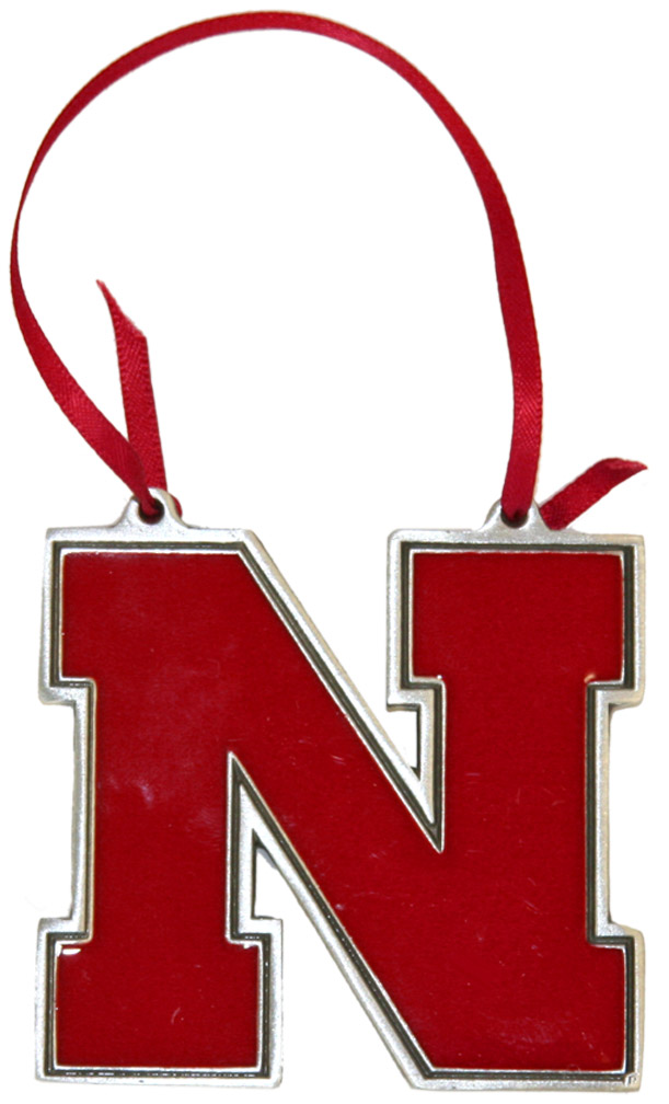 Iron N Red Ornament w/Ribbon Nebraska Cornhuskers, Nebraska  Holiday Items, Huskers  Holiday Items, Nebraska Iron N Red Ornament w/Ribbon, Huskers Iron N Red Ornament w/Ribbon