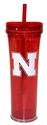 Iron N Skinny Tumbler Nebraska Cornhuskers, Nebraska  Kitchen & Glassware, Huskers  Kitchen & Glassware, Nebraska Vehicle, Huskers Vehicle, Nebraska Iron N Skinny Tumbler, Huskers Iron N Skinny Tumbler