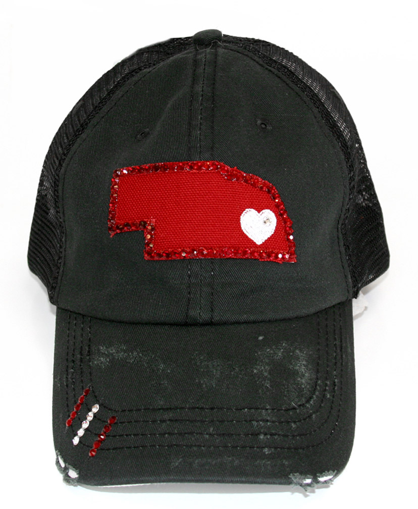 Jeweled Red Nebraska Heart Truckers Cap Nebraska Cornhuskers, Nebraska  Mens Hats, Huskers  Mens Hats, Nebraska  Mens Hats, Huskers  Mens Hats, Nebraska 2014  Adidas Coach Slouch White Hat, Huskers 2014  Adidas Coach Slouch White Hat