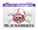 Large Blackshirts Decal Nebraska Cornhuskers, Nebraska Vehicle, Huskers Vehicle, Nebraska Stickers Decals & Magnets, Huskers Stickers Decals & Magnets, Nebraska Large Blackshirts Decal, Huskers Large Blackshirts Decal