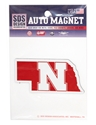 Nebraska State Iron N Magnet Nebraska Cornhuskers, Nebraska Vehicle, Huskers Vehicle, Nebraska Stickers Decals & Magnets, Huskers Stickers Decals & Magnets, Nebraska Nebraska State Iron N Magnet, Huskers Nebraska State Iron N Magnet