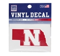Nebraska State N Logo Decal Nebraska Cornhuskers, Nebraska Vehicle, Huskers Vehicle, Nebraska Stickers Decals & Magnets, Huskers Stickers Decals & Magnets, Nebraska Nebraska State N Logo Decal, Huskers Nebraska State N Logo Decal