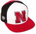 Nebraska Three Tone Flat Brim Nebraska Cornhuskers, Nebraska  Mens Hats, Huskers  Mens Hats, Nebraska  Mens Hats, Huskers  Mens Hats, Nebraska Nebraska Three Tone Flat Brim, Huskers Nebraska Three Tone Flat Brim
