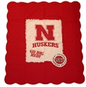 Husker Quilted Applique Blanket Nebraska Cornhuskers, Nebraska  Game Room & Big Red Room, Huskers  Game Room & Big Red Room, Nebraska  Tailgating, Huskers  Tailgating, Nebraska  Bedroom & Bathroom, Huskers  Bedroom & Bathroom, Nebraska  Comfy Stuff, Huskers  Comfy Stuff, Nebraska Red Quilted Applique Blanket, Huskers Red Quilted Applique Blanket