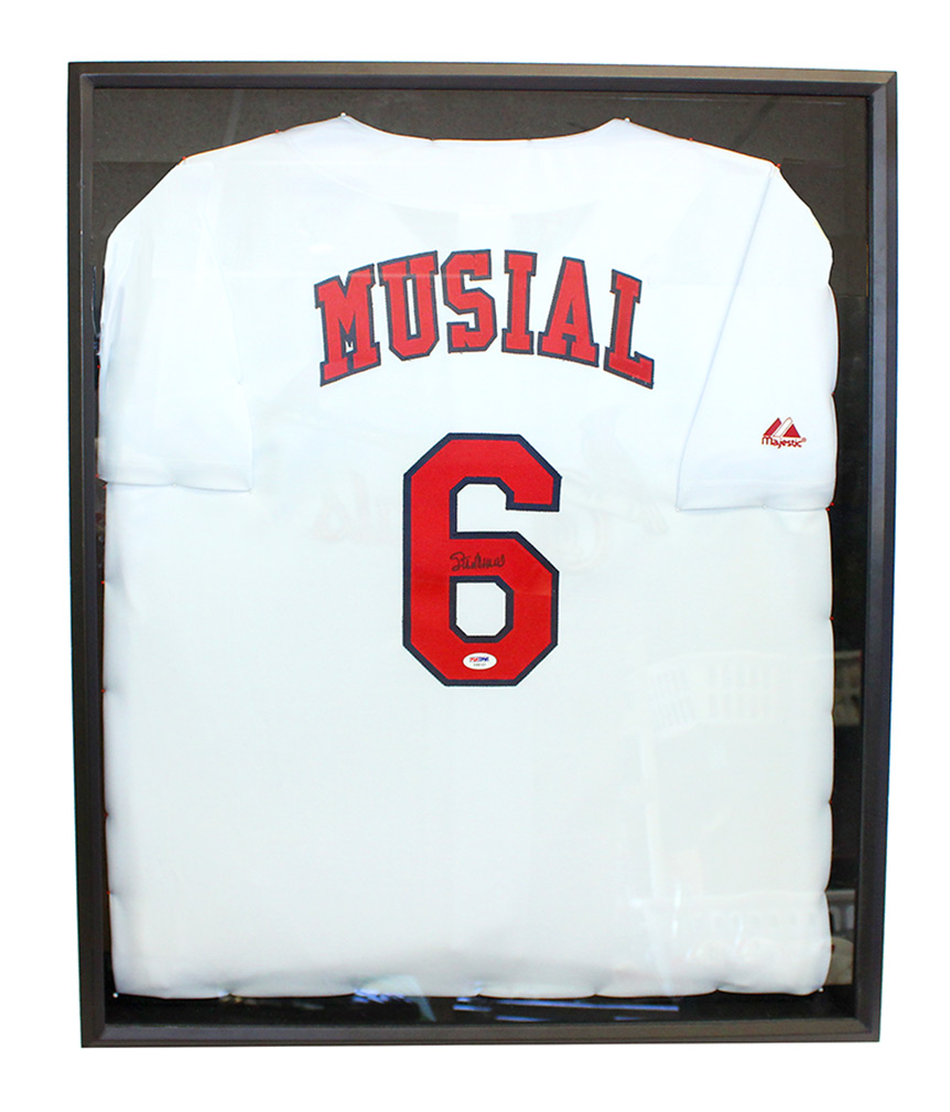 newest collection db9a6 df73c Stan Musial Autographed Cardinals Jersey in Shadow Box