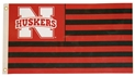 Nebraska Red and Black Striped Flag Nebraska Cornhuskers, Red/Black Striped Flag