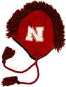 N ERA RED KNIT MOHAWK HAT husker football, nebraska merchandise, husker merchandise, nebraska cornhuskers apparel, husker apparel, nebraska apparel, husker hats, nebraska hats, nebraska caps, husker caps, Nebraska Cornhuskers, New Era Red Knit Mohawk N Graphic