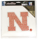 N Bling Decal Nebraska Cornhuskers, Nebraska Vehicle, Huskers Vehicle, Nebraska Bling Decal, Huskers Bling Decal