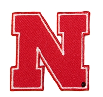 2 Inch Red N Huskers Patch Nebraska Cornhuskers, Red N Huskers Patch, 2 inch