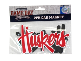 2 Pack Huskers Script Car Magnet Nebraska Cornhuskers, Nebraska Stickers Decals & Magnets, Huskers Stickers Decals & Magnets, Nebraska Vehicle, Huskers Vehicle, Nebraska 2 Pack Huskers Script Car Magnet, Huskers 2 Pack Huskers Script Car Magnet