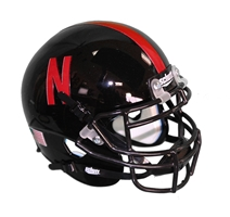 2012 Husker Alternate Mini Speed Helmet Nebraska Cornhuskers, Special Uniform Black Mini Helmet