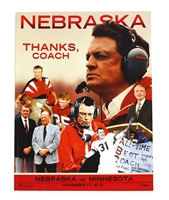 2012 Osborne Farewell Game Program vs Minnesota Nebraska cornhuskers, husker football, nebraska cornhuskers merchandise, husker merchandise, nebraska cornhusker game program, husker game program, 2012 Big Ten Championship Game program, Nebraska vs. Wisconsin game program
