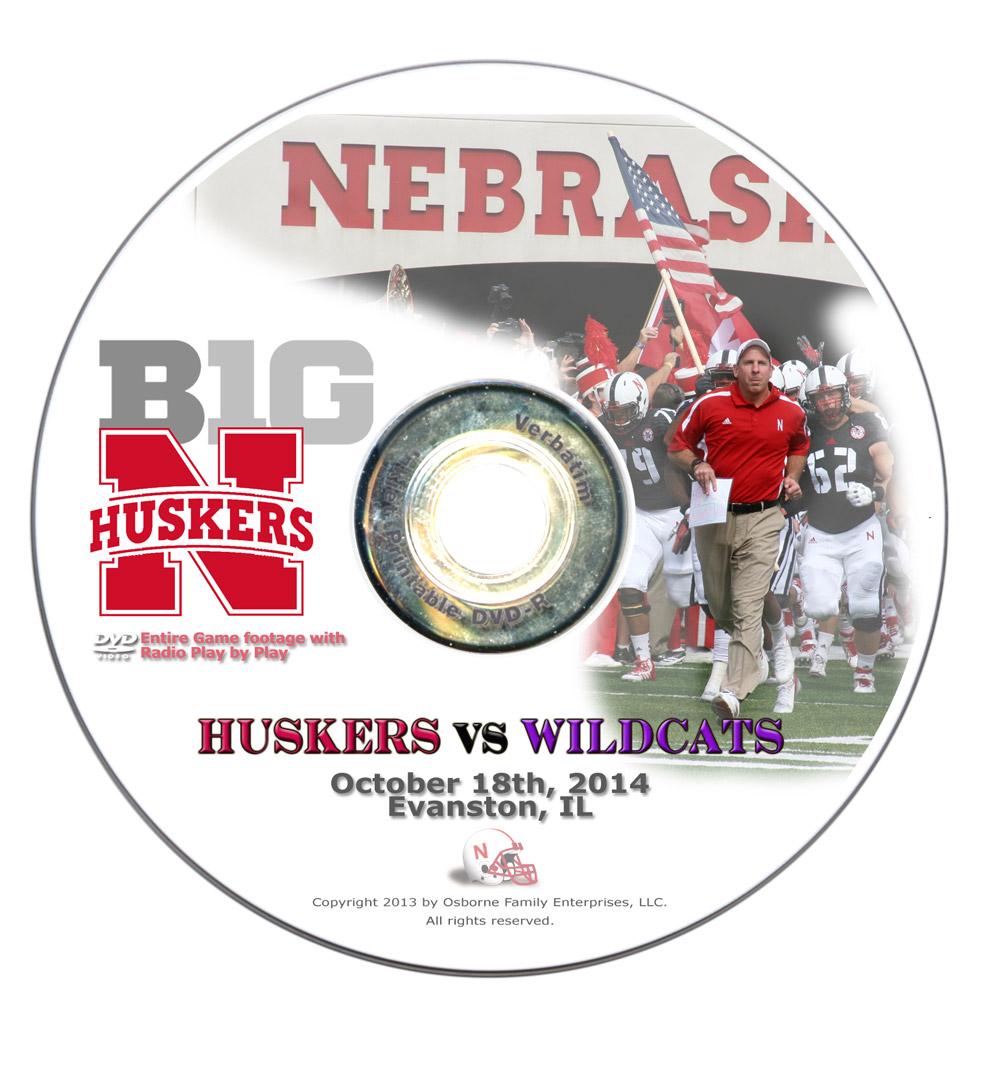 2014 Nebraska vs Northwestern DVD