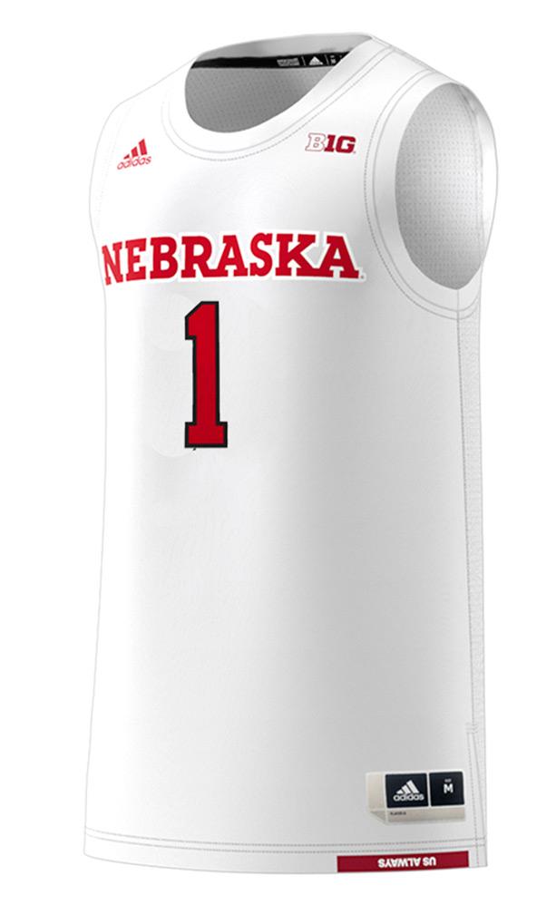 Adidas Huskers Home Basketball Jersey No. 1