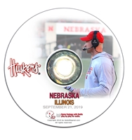 2019 Nebraska vs Illinois Nebraska Cornhuskers, Nebraska  2019 Season, Huskers  2019 Season, Nebraska DVDs 2018 to Present, Huskers DVDs 2018 to Present, Nebraska 2019 Nebraska vs Illinois, Huskers 2019 Nebraska vs Illinois