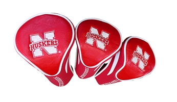 Nebraska Cornhuskers Golf Club Covers Nebraska Cornhuskers, husker football, nebraska cornhuskers merchandise, husker merchandise, nebraska merchandise, nebraska cornhuskers golf accessories, husker golf accessories, nebraska golf accessories, nebraska golf merchandise, husker golf merchandise, nebraska cornhuskers golf merchandise, 3PK Golf Head Covers