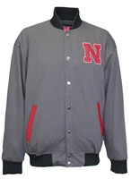 Husker Champs Reversible Letterman Jacket Nebraska Cornhuskers, Nebraska  Mens Outerwear, Huskers  Mens Outerwear, Nebraska  Mens, Huskers  Mens, Nebraska National Champ Tricot Jacket Franchise, Huskers National Champ Tricot Jacket Franchise