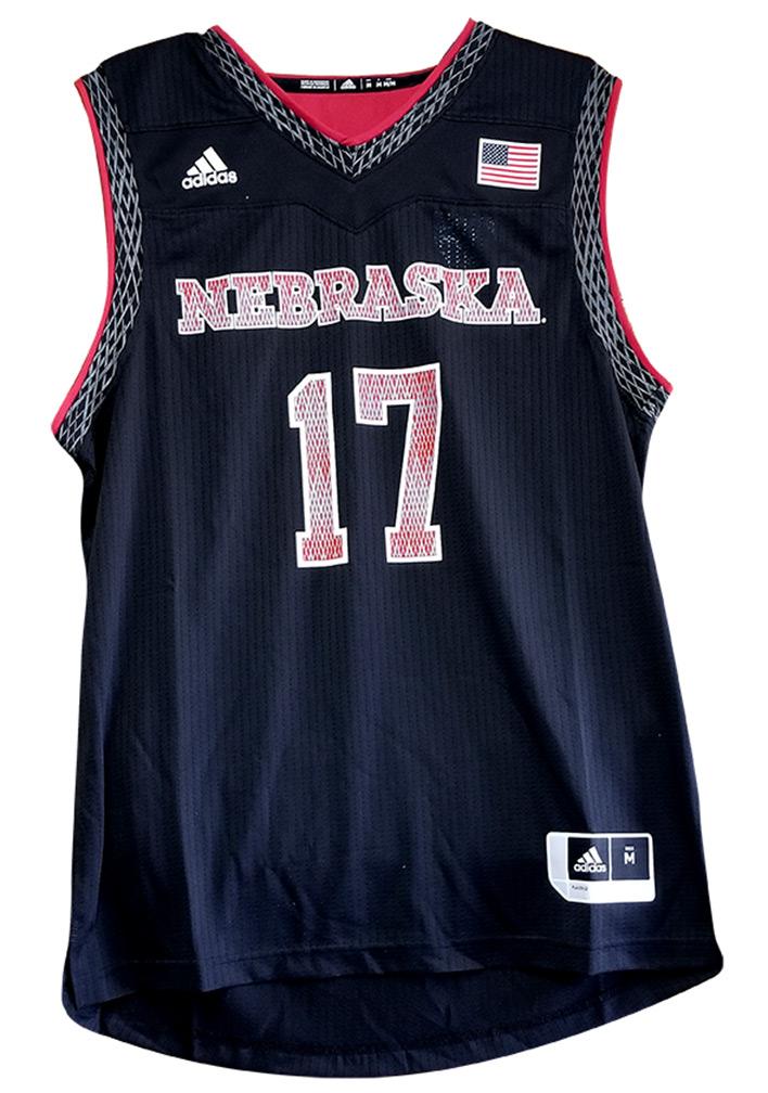 Adidas 2017 Huskers Black Basketball Jersey