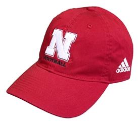 6bbaecbb5342f Adidas Coach Frost N Football Cap Nebraska Cornhuskers