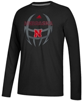 Adidas Helmet LS Tee Nebraska Cornhuskers, Nebraska Adidas, Huskers Adidas, Nebraska  Mens, Huskers  Mens, Nebraska  Long Sleeve, Huskers  Long Sleeve, Nebraska  Mens T-Shirts, Huskers  Mens T-Shirts, Nebraska Black Out!, Huskers Black Out!, Nebraska Adidas Helmet LS Tee, Huskers Adidas Helmet LS Tee