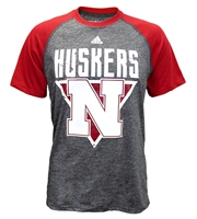 Adidas Huskers 3 Point Splat Raglan Nebraska Cornhuskers, Nebraska  Mens T-Shirts, Huskers  Mens T-Shirts, Nebraska  Mens, Huskers  Mens, Nebraska  Short Sleeve, Huskers  Short Sleeve, Nebraska Adidas Huskers Raglan Triangle Color Splat Tee, Huskers Adidas Huskers Raglan Triangle Color Splat Tee