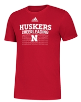 Adidas Huskers Cheerleading Tee Nebraska Cornhuskers, Nebraska  Short Sleeve, Huskers  Short Sleeve, Nebraska  Mens, Huskers  Mens, Nebraska  T-Shirts, Huskers  T-Shirts, Nebraska  Other Sports, Huskers  Other Sports, Nebraska Adidas, Huskers Adidas, Nebraska Adidas Huskers Cheerleading Tee, Huskers Adidas Huskers Cheerleading Tee