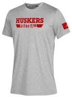 Adidas Huskers Football Locker Amped Tee - Gray Nebraska Cornhuskers, Nebraska  Mens T-Shirts, Huskers  Mens T-Shirts, Nebraska  Mens, Huskers  Mens, Nebraska  Short Sleeve, Huskers  Short Sleeve, Nebraska Adidas, Huskers Adidas, Nebraska Adidas Huskers Football Locker Amped Tee - Gray, Huskers Adidas Huskers Football Locker Amped Tee - Gray