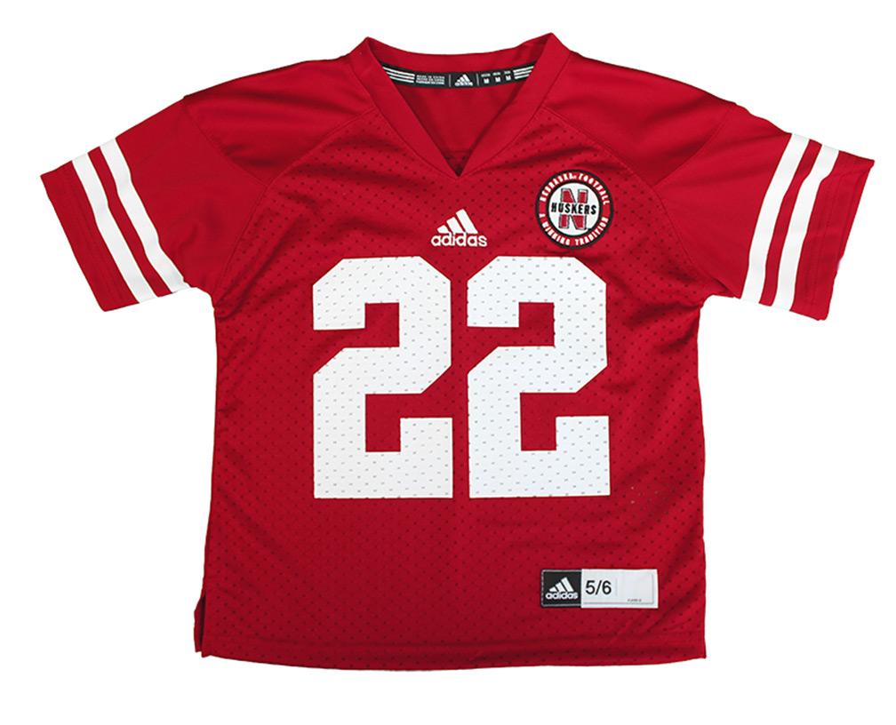 Adidas Kids Husker Jersey Number 22