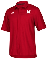 Adidas Nebraska Button Down Polo - Red Nebraska Cornhuskers, Nebraska  Mens Polos, Huskers  Mens Polos, Nebraska Polos, Huskers Polos, Nebraska Adidas Nebraska Button Down Polo - Red, Huskers Adidas Nebraska Button Down Polo - Red