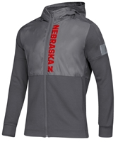 Adidas Nebraska Game Mode Full Zip Jacket - Grey Nebraska Cornhuskers, Nebraska  Outerwear, Huskers  Outerwear, Nebraska  Mens, Huskers  Mens, Nebraska Adidas, Huskers Adidas, Nebraska Adidas Nebraska Game Mode Full Zip Jacket - Grey, Huskers Adidas Nebraska Game Mode Full Zip Jacket - Grey