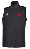 Adidas Nebraska Game Mode Full Zip Vest - Black Nebraska Cornhuskers, Nebraska  Mens Outerwear, Huskers  Mens Outerwear, Nebraska  Mens, Huskers  Mens, Nebraska Adidas, Huskers Adidas, Nebraska Adidas Nebraska Game Mode Full Zip Vest - Black, Huskers Adidas Nebraska Game Mode Full Zip Vest - Black
