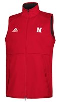 Adidas Nebraska Game Mode Full Zip Vest - Red Nebraska Cornhuskers, Nebraska  Mens Outerwear, Huskers  Mens Outerwear, Nebraska  Mens, Huskers  Mens, Nebraska Adidas, Huskers Adidas, Nebraska Adidas Nebraska Game Mode Full Zip Vest - Red, Huskers Adidas Nebraska Game Mode Full Zip Vest - Red