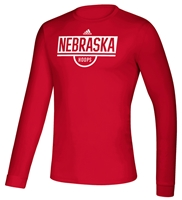 Adidas Nebraska Hoops Practice LS Tee - Red Nebraska Cornhuskers, Nebraska  Mens T-Shirts, Huskers  Mens T-Shirts, Nebraska  Mens, Huskers  Mens, Nebraska  Long Sleeve, Huskers  Long Sleeve, Nebraska  Basketball, Huskers  Basketball, Nebraska Adidas, Huskers Adidas, Nebraska Adidas Nebraska Hoops Practice LS Tee - Red, Huskers Adidas Nebraska Hoops Practice LS Tee - Red