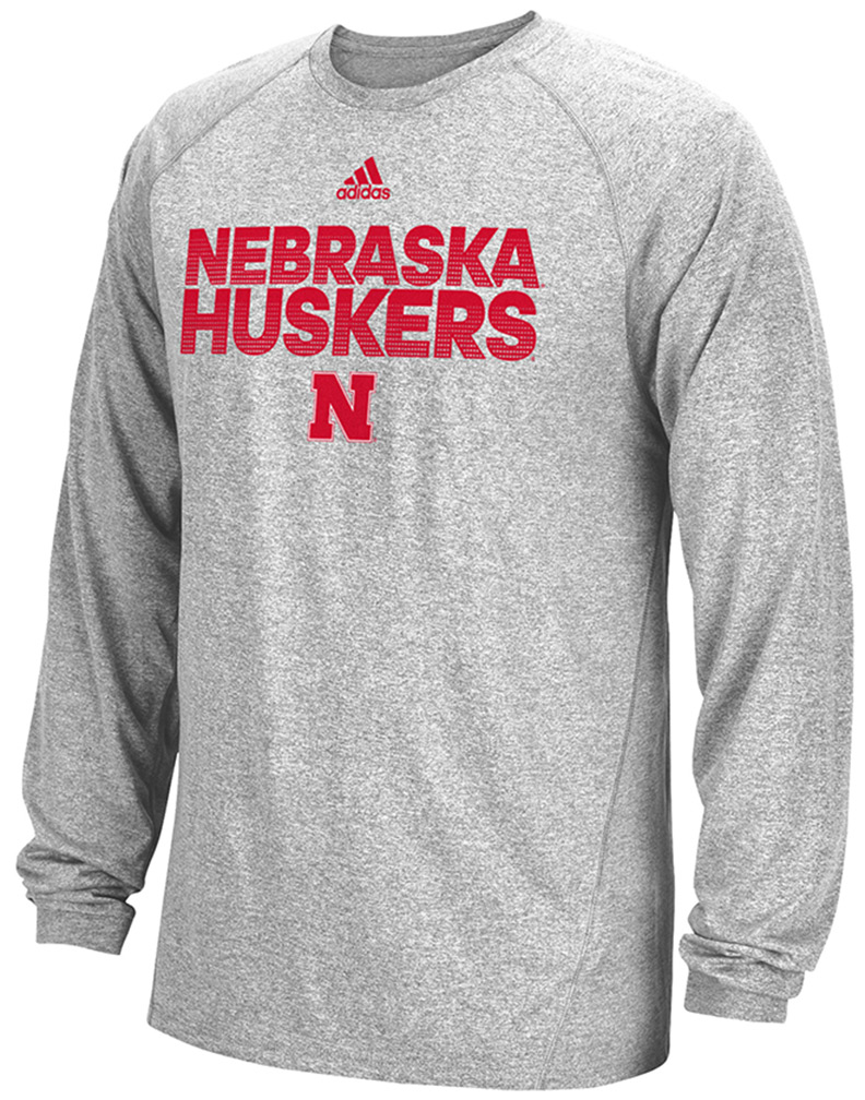 Tee Nebraska Ls Hustle Adidas Climalite Huskers txhQrsdC