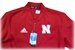 Adidas Nebraska Short Sleeve Woven Quarter Zip - AP-B8008
