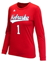 Adidas Nebraska Volleyball Replica Away Jersey Top Nebraska Cornhuskers, Nebraska  Ladies, Huskers  Ladies, Nebraska  Long Sleeve, Huskers  Long Sleeve, Nebraska  Ladies T-Shirts, Huskers  Ladies T-Shirts, Nebraska Volleyball, Huskers Volleyball, Nebraska Adidas, Huskers Adidas, Nebraska Adidas Nebraska Volleyball Replica LS - Red, Huskers Adidas Nebraska Volleyball Replica LS - Red