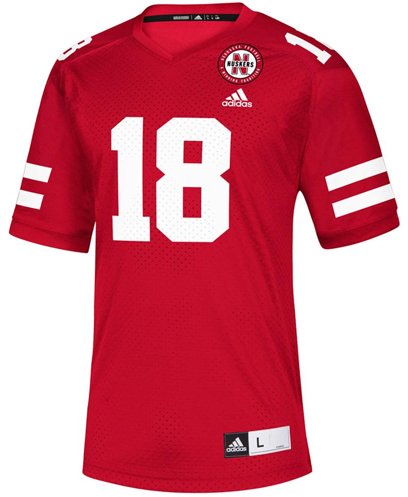 Adidas No. 18 Nebraska Football Replica Jersey