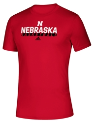 Adidas On Court Nebraska Basketball Tee - Red Nebraska Cornhuskers, Nebraska  Mens T-Shirts, Huskers  Mens T-Shirts, Nebraska  Mens, Huskers  Mens, Nebraska  Short Sleeve, Huskers  Short Sleeve, Nebraska  Basketball, Huskers  Basketball, Nebraska Adidas, Huskers Adidas, Nebraska Adidas On Court Nebraska Basketball Tee - Red, Huskers Adidas On Court Nebraska Basketball Tee - Red