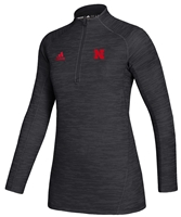 Adidas Womens Nebraska Official Sideline Quarter Zip - Black Nebraska Cornhuskers, Nebraska  Ladies Outerwear, Huskers  Ladies Outerwear, Nebraska  Ladies, Huskers  Ladies, Nebraska Adidas, Huskers Adidas, Nebraska Adidas Womens Nebraska Official Sideline Quarter Zip - Black, Huskers Adidas Womens Nebraska Official Sideline Quarter Zip - Black