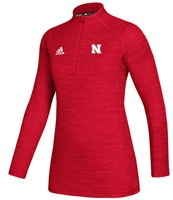 Adidas Womens Nebraska Official Sideline Quarter Zip - Red Nebraska Cornhuskers, Nebraska  Ladies Outerwear, Huskers  Ladies Outerwear, Nebraska  Ladies, Huskers  Ladies, Nebraska Adidas, Huskers Adidas, Nebraska Adidas Womens Nebraska Official Sideline Quarter Zip - Red, Huskers Adidas Womens Nebraska Official Sideline Quarter Zip - Red