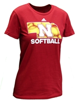 Adidas Womens Nebraska State Softball Tee Nebraska Cornhuskers, Nebraska  Ladies T-Shirts, Huskers  Ladies T-Shirts, Nebraska  Ladies, Huskers  Ladies, Nebraska  Short Sleeve, Huskers  Short Sleeve, Nebraska Adidas, Huskers Adidas, Nebraska Adidas Womens Nebraska State Softball Tee, Huskers Adidas Womens Nebraska State Softball Tee