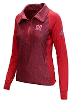 Adidas Womens Vertical Heather Quarter Zip Nebraska Cornhuskers, Nebraska  Ladies, Huskers  Ladies, Nebraska  Ladies Outerwear, Huskers  Ladies Outerwear, Nebraska Adidas Womens Vertical Heather Quarter Zip, Huskers Adidas Womens Vertical Heather Quarter Zip