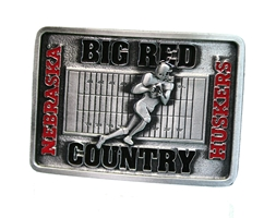 Big Red Country Belt Buckle Nebraska Cornhuskers, 2006 Volleyball National Championship Coin