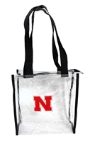 Clear Zippered Nebraska Tote Bag Nebraska Cornhuskers, husker football, nebraska cornhuskers merchandise, nebraska merchandise, husker merchandise, nebraska cornhuskers apparel, husker apparel, nebraska apparel, husker womens apparel, nebraska cornhuskers womens apparel, nebraska womens apparel, husker womens merchandise, nebraska cornhuskers womens merchandise, womens nebraska accessories, womens husker accessories, womens nebraska cornhusker accessories, Clear Zippered Nebraska Tote Bag, Clear Tote Bag