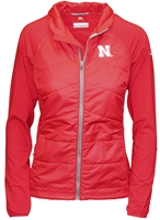 Columbia Husker Hybrid Jacket Nebraska Cornhuskers, Nebraska  Ladies Outerwear, Huskers  Ladies Outerwear, Nebraska  Ladies, Huskers  Ladies, Nebraska Red W Hybrid Jacket Columbia, Huskers Red W Hybrid Jacket Columbia