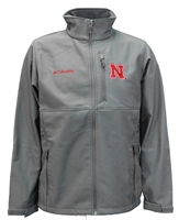 Columbia Nebraska Ascender Soft Shell Nebraska Cornhuskers, Nebraska  Mens Outerwear, Huskers  Mens Outerwear, Nebraska  Mens, Huskers  Mens, Nebraska Gray Ascender Soft Shell Columbia, Huskers Gray Ascender Soft Shell Columbia